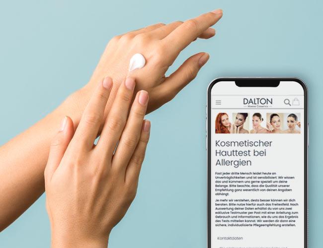 Kosmetischer Hauttest bei Allergien