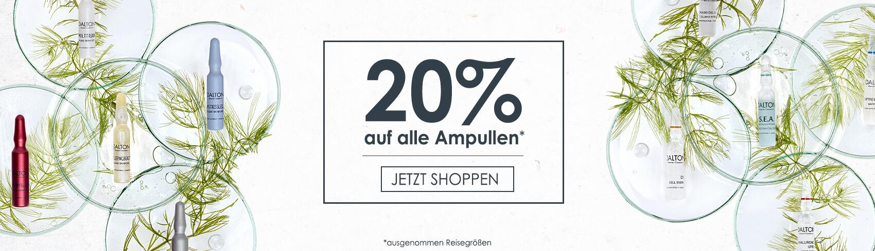 20% auf alle Ampullen