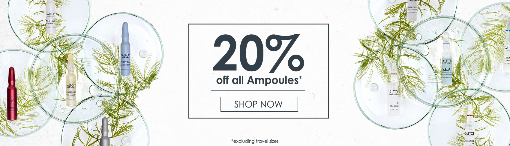 20% off all Ampoules