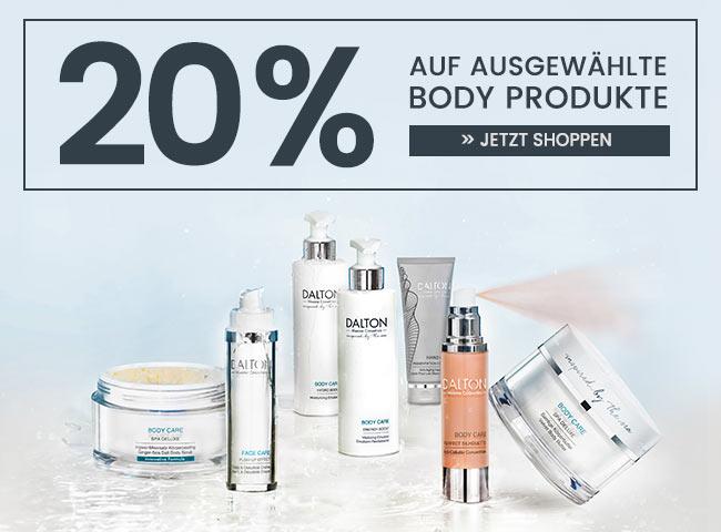 20% auf ausgewählte Body Produkte