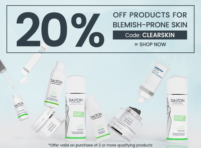 20% off products for blemish-prone skin