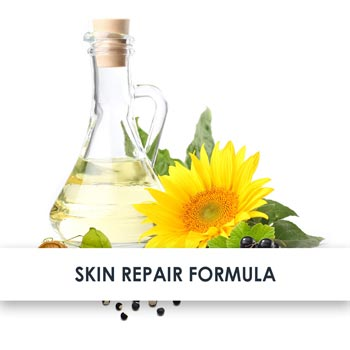 Gentle ingredients for sensitive skin