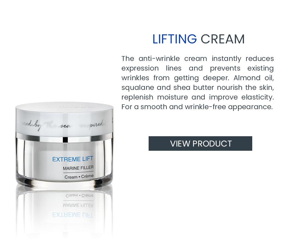 Skincare cream for wrinkles
