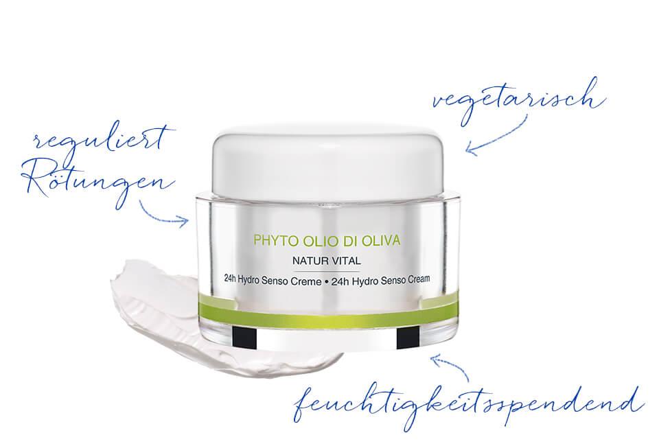Gesichtscreme mit Olivenöl für sensible Haut