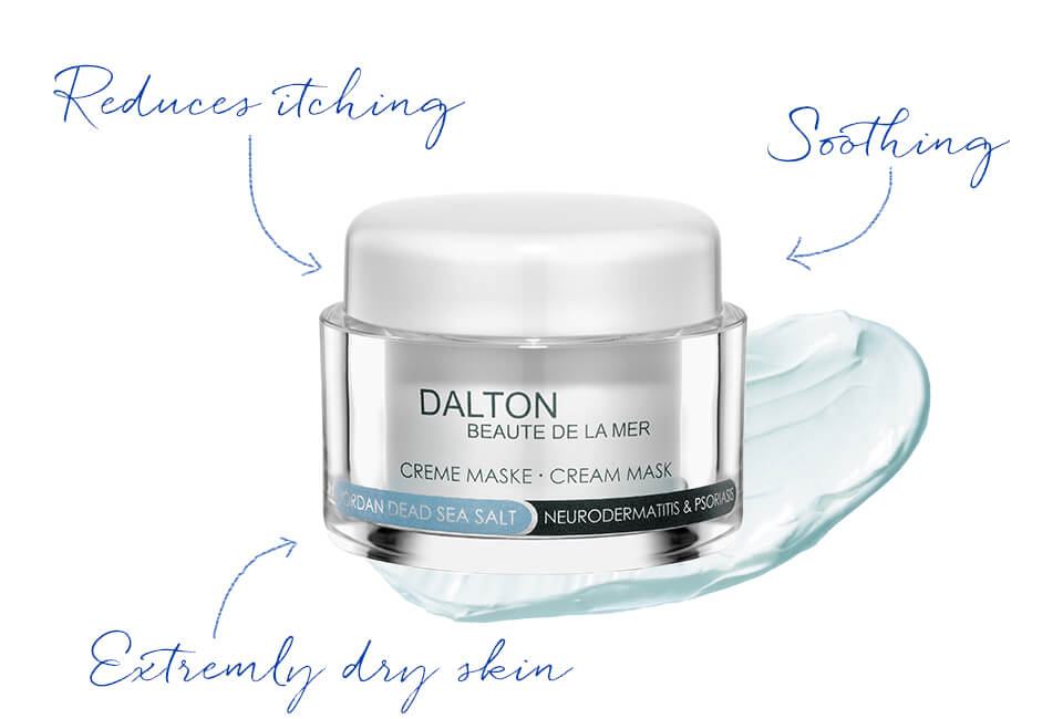 Anti-itching face mask with original Dead Sea salt