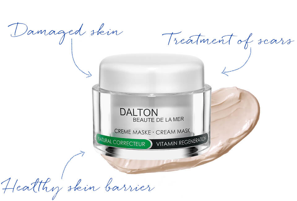 Face mask for skin prone to hyperkeratosis