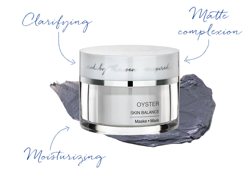 Clarifying face mask with oyster active ingredients