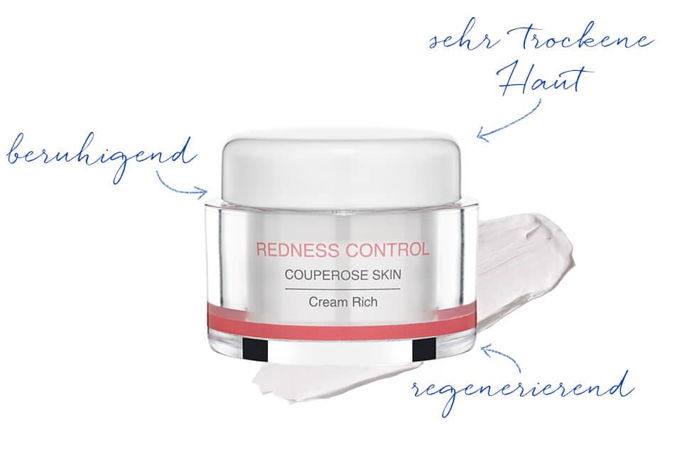 Reichhaltige Gesichtscreme für Couperose Haut