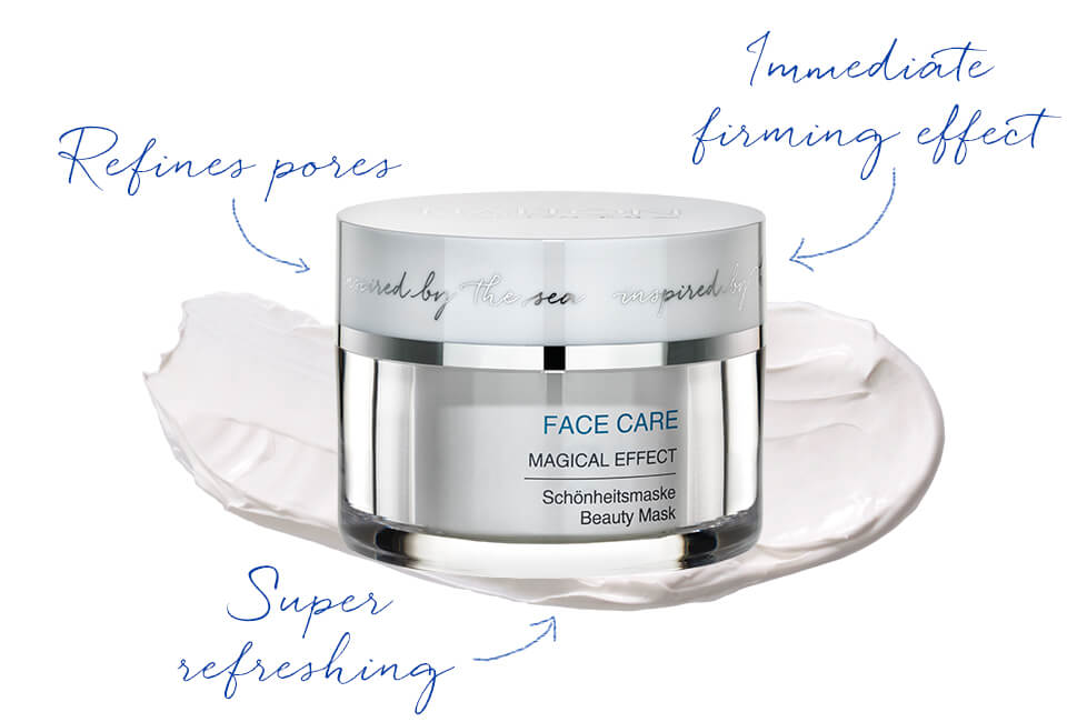 Refreshing face mask clears the skin with immediate effect
